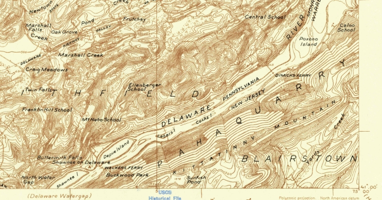 USGSDelawareWaterGap1924Detail